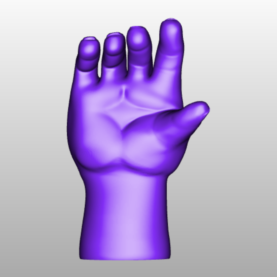 Main impression 3d hand 3d printing cults