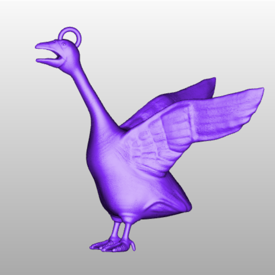 Oie imprimante 3d imprimee en 3d impression 3d cults goose 3d printing